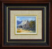 Sale 8309A - Lot 86 - Colleen Parker (1944 - 2008) - The Slab Barn 8 x 9cm