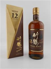 Sale 8454X - Lot 80 - 1x Nikka Whisky 12YO Taketsuru Pure Malt Japanese Whisky - in box
