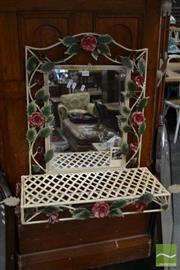 Sale 8489 - Lot 1095 - Wall Mount Mirror with Shelf