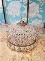 Sale 8500A - Lot 92 - A clear Czech rock crystal flush mounted ceiling dome - Condition: Very Good - Measurements: 20cm diameter x 15cm high