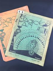 Sale 8539M - Lot 40 - The Magic Fan 1938, vol. 1 no. 1 for July, vol. 1 no. 2 for November. Published by Malayan Magic Circle.