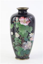 Sale 8815C - Lot 90 - An Ornate Japanese Cloissone Vase, A/F with Repair, H 12cm