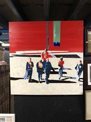 Sale 8841 - Lot 2005 - John Brooke Foot Traffic acrylic on board, 90 x 90cm, signed verso