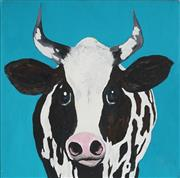 Sale 8961 - Lot 2031 - Brenda Hanson - Silly Cow 45 x 45 cm (total: 45 x 45 x 4 cm)