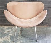 Sale 8959 - Lot 1088 - Fabric Clad Modern Lounge Chair (H:74 x W:83cm)