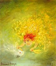 Sale 9001 - Lot 534 - David Boyd (1924 - 2011) - Europa & the Cockatoo, 1995 29.5 x 24 cm (frame: 42 x 37 x 3 cm)