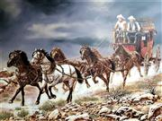 Sale 9058 - Lot 2047 - Dakota, Crossing the Country, Oil on canvas, Signed Lower Right
