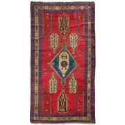 Sale 9082C - Lot 59 - Antique Caucasian Karabagh Rug, 145x245cm, Handspun Wool