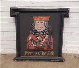Sale 9129 - Lot 1094 - Vintage Henry The 9th pub sign (h:96 x w:91cm)