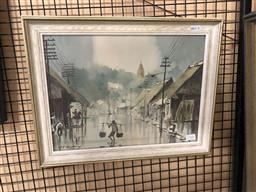 Sale 9147 - Lot 2065 - A.B Ibrahim Malaysian Street Scene, watercolour, frame: 34 x 44 cm, signed lower left -