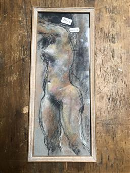 Sale 9152 - Lot 2071 - Paul Williams Standing Nude, pastel, frame: 37 x 10 cm, signed lower left -
