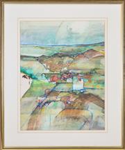 Sale 8339A - Lot 600 - Venita Salnajs (1945 - ) - Coastal Pastures, 1978 58 x 45cm