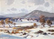 Sale 8504 - Lot 505 - Robert Wilson (1942 - ) - Brindabella Snowfall 44.5 x 60cm