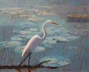 Sale 8633 - Lot 549 - Lawrence Daws (1927 - ) - Egret 60 x 75cm