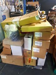 Sale 8663 - Lot 2162 - Pallet of Items incl Tyres, Rockhose, Fan Oven etc