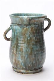 Sale 8670 - Lot 50 - Glazed Double Handle Vase (H 21cm Dia 14cm)