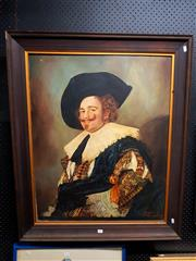 Sale 8671 - Lot 2056 - O. Drake - Laughing Cavalier, oil on canvas, 99.5x 80cm, signed lower right -