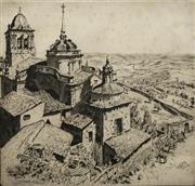 Sale 8696A - Lot 5043 - Lionel Lindsay (1874 - 1961) - Jerez De Los Caballeros 30 x 32.5cm