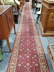 Sale 8740 - Lot 1057 - Red and Cream Hall Runner (650 x 67cm)