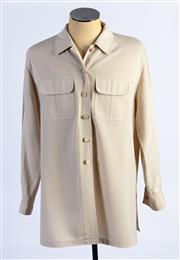 Sale 8926H - Lot 6 - An ARA safari style blouse in light beige, size 16