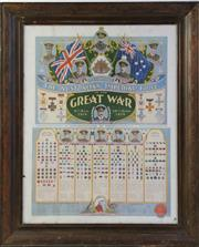 Sale 8994W - Lot 606 - Early Framed Oak Coloured Poster Of Record Of  The Australian Imperial Force Australia  In The Great War Mounted On Board (70 x 57)