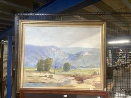 Sale 9111 - Lot 2093 - James Radford Afternoon Light, Near the Oaks NSW oil on canvas board, 72 x 88cm, signed