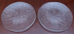 Sale 9155H - Lot 50 - A pair of Kosta Boda leaf dishes. Diameter 33cm