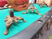 Sale 8424 - Lot 1041 - Cast Iron Table Bases x 3