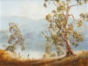 Sale 8503 - Lot 2029 - Patricia Murphy (active 1980s) - The Overseer - McLean River 44.5 x 60cm