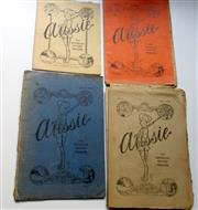 Sale 8639 - Lot 73 - 10 Original Issues of the Australian Soldiers' Magazine, Aussie, printed in the field by the AIF printing section. Magazines No. 2 (...