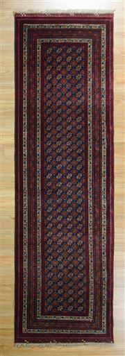 Sale 8643C - Lot 89 - Afghan Mori Gul Runner 300cn x 85cm
