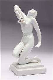 Sale 8694 - Lot 20 - Herend White Porcelain Figure Of A Nude Lady