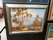 Sale 8695 - Lot 2030 - Pat Murphy - Overlooking the Valley, oil on canvas on board, 57.5 x 72.5cm (frame size), signed lower left