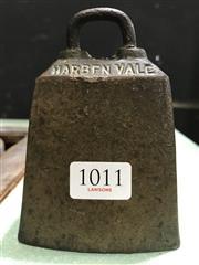 Sale 8787 - Lot 1011 - Brass Harben Vale  Cow Bell