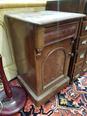 Sale 8826 - Lot 1088 - Pair of Timber Bedsides with Single Drawer & Door