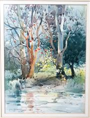 Sale 9058 - Lot 2016 - Helen Goldsmith, Lane Cove, watercolour, frame: 63 x 53 cm, signed lower left