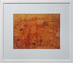 Sale 9155 - Lot 2016 - JOHN OLSEN (1928 - ) - Untitled (Summer Landscape) 47 x 63.5 cm (frame: 84 x 98 x 3 cm)