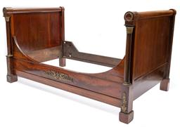 Sale 9200P - Lot 96 - A French Empire day bed, c1830, Height 107cm x Length 194cm x Width 117cm full set of slats included