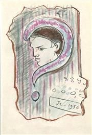 Sale 8696A - Lot 5100 - Jean Cocteau (1889-1963) - Untitled, 1956 23 x 16cm