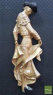 Sale 8395 - Lot 1008 - Plastic Wall Relief of Matador with Muleta