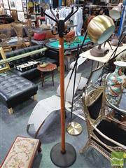 Sale 8424 - Lot 1029 - Teak And Metal Coat Stand
