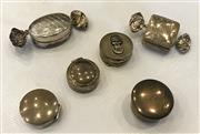 Sale 8436A - Lot 40 - A group of six silver and plated pill boxes in circular and sweetie form.