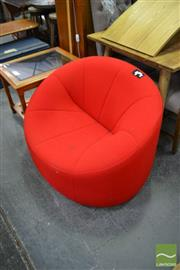 Sale 8480 - Lot 1134 - Modern Red Lounge Chair