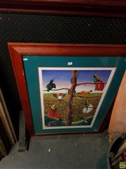 Sale 8613 - Lot 2100 - Artist Unknown - Reflections on Paradise 109 x 83cm (frame size)