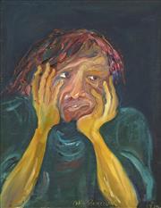 Sale 8755 - Lot 568 - Celia Perceval (1949 - ) - Portrait of an Unhappy Man 1970 62 x 50cm