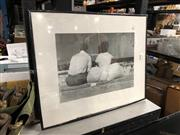 Sale 8816 - Lot 2079 - Framed Photograph - At the Beach