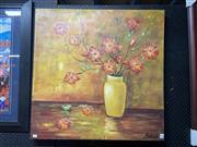 Sale 8932 - Lot 2062 - Monique - Floral Presentation oil on canvas, 80.5 x 80.5cm, signed