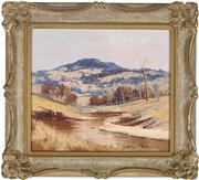 Sale 9055A - Lot 5092 - Stephen Franks (1942 - 2002) - Macleay Valley Vista 15 x 17 cm (frame: 22 x 24 x 2 cm)
