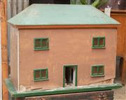 Sale 9060H - Lot 84 - A rustic timber dolls house. Height 57 x width 77cm
