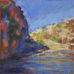 Sale 9099A - Lot 5017 - Laura Matthews (1964 - ) - Ningaloo Blue I 50 x 50 cm (mount: 64.5 x 63.5 cm)